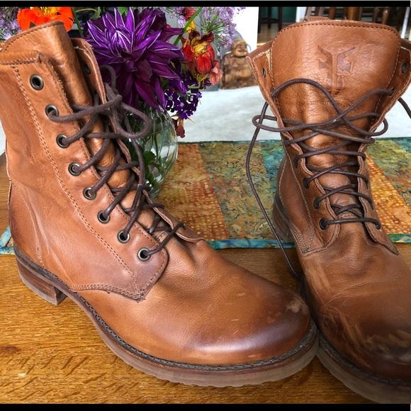 "74b6b201e91 Frye Veronica Combat Boots - 9.5 M - ""Whiskey"""